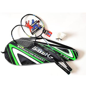 2pcs Professional AluminumI Integrated Badminton Rackets Set with 2 Shuttlecock,Bag Packingoutdoor sports Q1121