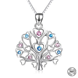 S925 silver Tree of life Pendant Necklaces for Women Christmas Jewelry Gifts for Women Party Anniversary Day Birthday Z1126