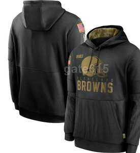2020 Mens Cleveland Sweatshirt NY Hoody 2020 Salute to Service Sideline Therma Performance Pullover Hoodies S-4XL