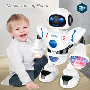 Newest Space Dazzling Music Robot Shiny Educational Toys Electronic Walking Dancing Smart Space Robot Kids Music Robot Toys