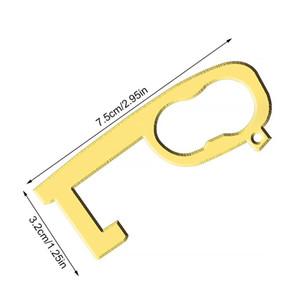 Evite el contacto de la puerta del contacto del tirador de la puerta con forma del elevador de metal portátil, presione la herramienta sin contacto Evite el contacto H BBYZXC XMHYARD