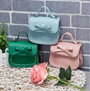 2021 Girls Messenger Bag Pure Color Handbags New Kids Leather Shoulder Bags Mini Crossbody Clutch Handbag