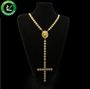 Mens Hip Hop Jewelry Iced Out Chains Jesus Piece Necklace Rapper Gold Chain Luxury Designer Cross Pendant Pandora Style Charms Tennis Hiphop
