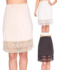 Womens Lace Slip Skirt Extender A Line High Waist Half Slips Skirts Lengthen Petticoat Underskirt Intimate Ladies Skirt 3FS