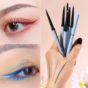 Colorful Rainbow Daisy Waterproof Crayon Eyeliner Pen Long Lasting Matte Shimmer Smooth Pigmented Eye Makeup Brighten Cosmetics