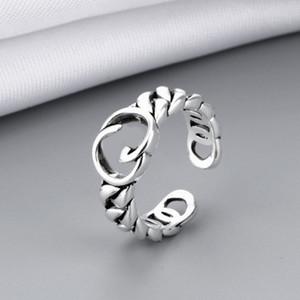 Lleve de la vendimia Anillo abierto Vintage Mujeres Muchacha de la letra de la joyería del anillo de los dedos para la fiesta de regalo de alta calidad