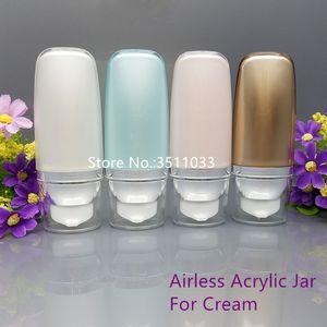 20PCS 30ml 50ml frasco dosificador cosmética Mildy Lave Crema Embalaje vacío BB Suncream Squeeze tubo de acrílico