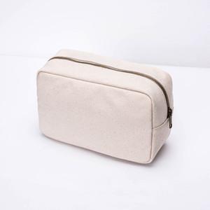 Storage New Women's Harajuku Canvas Japanese and Korean Cloth Cosmetic Bag Clutch LJ201008