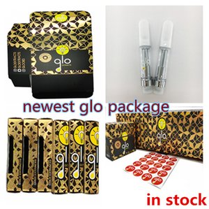 GLO Vape Cartridge 0.8ml 1ml Ceramic Coil Thick Oil 2.0mm*4 Ceramic Tip 10 Options Empty E Cigarette Vaporizers