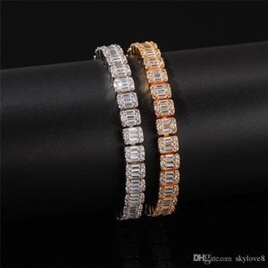 Factory direct unisex zircon bracelet high quality copper inlaid zircon gold plated to create high quality wedding bracelet