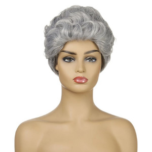 Hot Selling Wholesale Silver Wig For Women Short Kinky Curly Synthetic Hair various loose wave wig loose wave lace frontal wig