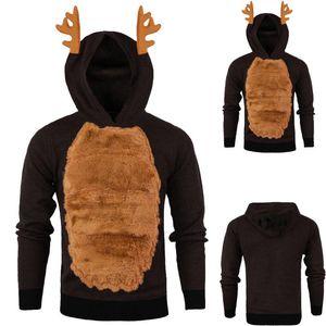 Gothic Patchwork Style V-Neck Collar Men Uomo Autunno Inverno 3D Felpa con cappuccio con cappuccio con cappuccio con cappuccio con cappuccio con cappuccio con cappuccio Top 2021 Hot