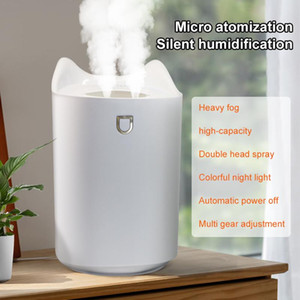 3L Home Air Humidifier Double Nozzle Cool Mist Aroma Diffuser With Colorful LED light Heavy Fog Ultrasonic USB Humidifier