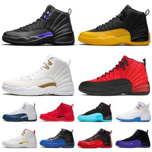 New Jumpman Dark Concord Mens Womens Retro 12 12s Zapatos de baloncesto XII Universidad Gold Fiba Entrenadores de deporte de juegos de gripe retro
