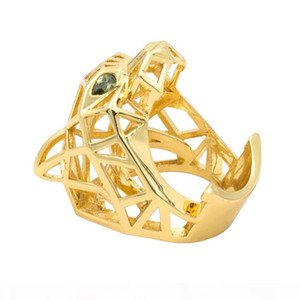 Green Eyes Leopard Panther Cocktail Ring For Men Women Crystals Jewelry Accessories Ria003 J190716