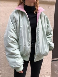 Oversize Girls Elegant Cotton Padded Jackets 2020 Winter Fahsion Ladies Casual Bomb Warm Coats Streetwear Women Outfits Chic
