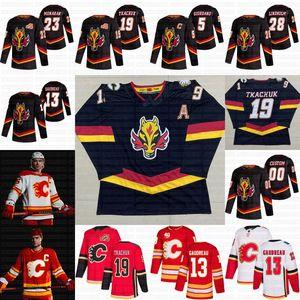 Calgary Flames 2021 Reverse Retro Johnny Gaudreau Sean Monahan Elias Lindholm Matthew Tkachuk Mark Giordano Mikael Backlund Ryan Jerseys