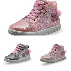APAKOWA APAKOWA BLING BLING BLING Botas de tornozelo para crianças meninas crianças crianças escola moda sapatos casuais com suporte de arco novo J1209
