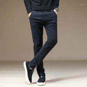 2019 Uyuk autunno inverno ramie cotone cotone nero sottile versione coreana elastico tubo dritto pantaloni casual per giovani uomini joggers1