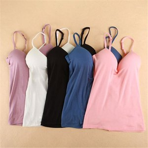 Womens Wire Free Bras Backless Seamless Bras Padded Solid Color Tank Top Straps M L1