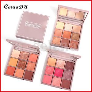 CmaaDu Makeup Shimmer Glitter Eye Shadow Palette Shine 9 Colors Eyeshadow Sparkling Duochrome Pigment eye shadow Powder