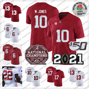 Alabama Crimson Tide Mac Jones Jersey Devonta Smith 2021 Şampiyonası Tua Tagovailoa Jerry Malachi Moore Jeudy Najee Harris Gül Kase