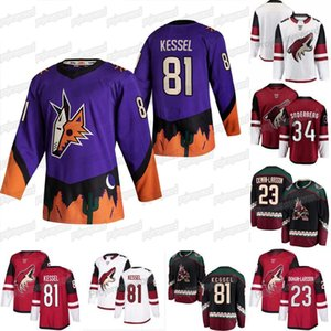 2020-21 inversée Retro Phil Kessel Jersey Arizona Coyotes Wayne Gretzky Oliver Ekman-Larsson Derek Stepan Shane Doan Christian Dvorak Maillots