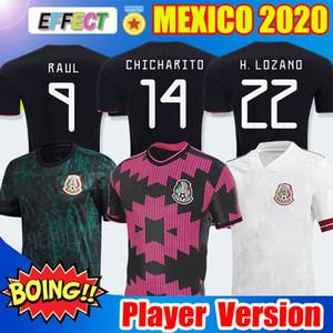 Versione del giocatore fan 2020 2021 Messico Soccer Jersey National Red White 20 21 Chicharito Lozano Guardado Carlos Vela Raul Camicie da calcio