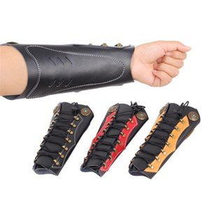 Traditional Cowhide Archery Arm Guard To Hold The Hunt With Hardware To Shoot Recurve Adjustable Straps Archery Arm Guard