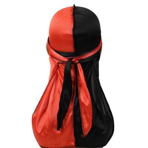 Frauen Bandana Doppelte Turban Hut Lange Schwanz Hip Hop Headwear Kopftuch Elastische Kappe HeadWrap Skull Caps Piratenhüte OOC4355