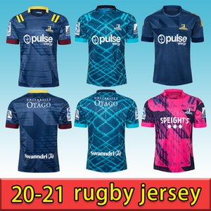 Nouveau 2021 Super Jersey Super Rugby Zealand Super Blues Hurricanes Crusaders Highlanders Highlanders Rugby Jerseys Shirts Top Qualité