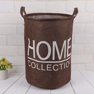Cotton Linen Large Capacity Laundry Basket Bucket Organizer For Clothes Waterproof Folding Toy Organizer Home Organization jllVPh