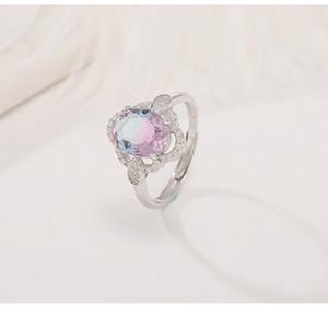Yee Shone Big Big Wedding Ring 925 Sterling Silver Jewlery Rins Raccordo per le donne Cristalli sintetici Gioielli di lusso Z1202