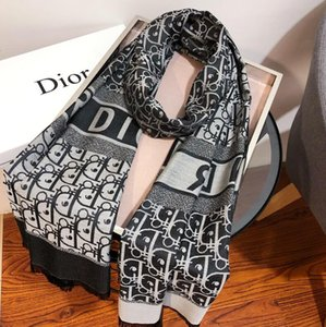 wholesale Designers Men Women top quality Autumn winter wool scarf Soft Lamé Thick and warm Scarf Luxurys Long Classic printed Shawl