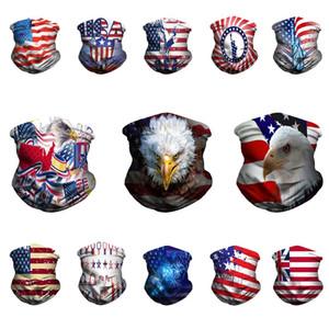 U.S.a Национальный флаг Pattern Bandanas Мужчины женщины 3D цифровая печать волшебные шарфы на открытом воздухе езда на вершине пылезащитный щит 5 5hs j2