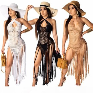 hollow out beach cover up dress for women crochet bikini cover ups tassel cover-ups bathing suit swimwear sexy dress swimsuit