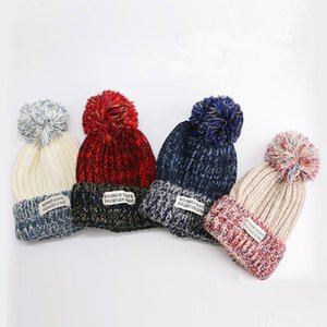 25# Winter Ladies Patch Knitted Hat Knitted And Woolen Warm Hat Woman Outdoor Warm And Cold Thick Printed Casquette Gorras