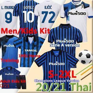 2020 21 Atalanta FC كرة القدم الفانيلة 1991 92 الرجعية أتالانتا لكرة القدم قمصان غوميز l.muriel ilicic دي رون دوفان الرجال كيت تايلاند موحد