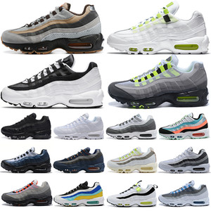 men running shoes 95 Worldwide Yin Yang Triple Black White Neon 95s fashion outdoor platform mens womens trainers sports sneakers 36-46