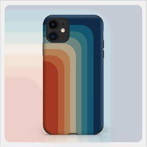 Moda Retro Rainbow Phone Case para Apple iPhone12PromAx Top Quality The Cover para iphone 6/7/8/11/12 XS Pro Max Mini