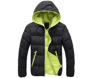 NEW Men's coat Winter Jacket Men Cotton Blend Coats Zipper Mens Jacket Casual Thick Outwear For Men Asia Clothing Male