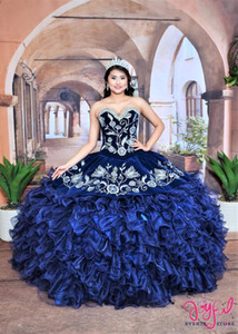 Three Piece Charro Quinceanera Dresses with Butterflies Embriodery Sweet 16 Dress Removeable Ruffles Skirt vestidos de 15 años