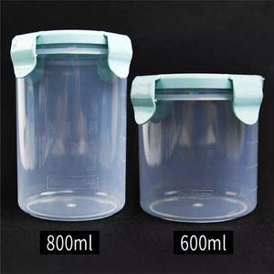 Tattoo supplies storage sealed plastic transparent jars pigment ring cup finger sleeve needle storage box 600 800ml