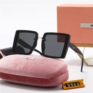 2021 plateaux plat surdimensionnés Square Lunettes de soleil Femmes Fashion Retro Gradient Verres de soleil pour femmes Mens Hommes Bleu Big Cadre Vintage Eyewear UV400