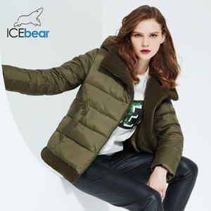icebear winter new women's jacket female hooded cotton coat warm parka women's fashion clothing GWD20123I 201120