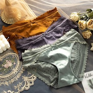 Womens Lace Panties 2020 New Styles Ladys Daily Briefs Women Sexy Mid-rise Translucent Briefs Ladys Wholesale Underwears