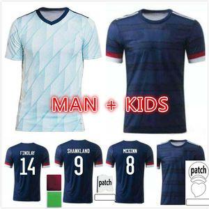New Scotland Soccer Jerseys 2020 2021 Robertson McCominay Camicia calcio Christie McGregor McGinn Dykes Men Bambini Casa Away Uniform Camisa