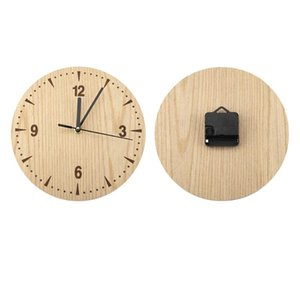 Plastic Vintage Round Wood Table Desk Wall Analog Clock for Living Room Bedroom Office wall watch