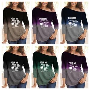 S-3XL Designer Designer Felpe con cappuccio manica lunga T-shirt Lettere Stampate Pullover POUR ME UN ALTRO UNO SONO PRONTO PER 2021 Ladies Blusa Top G10403