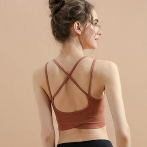 2020 Summer New Products Sports Brassiere Women's Beauty Back Fitness Yoga Bra Cross Lace-up Running Sports Underwear
